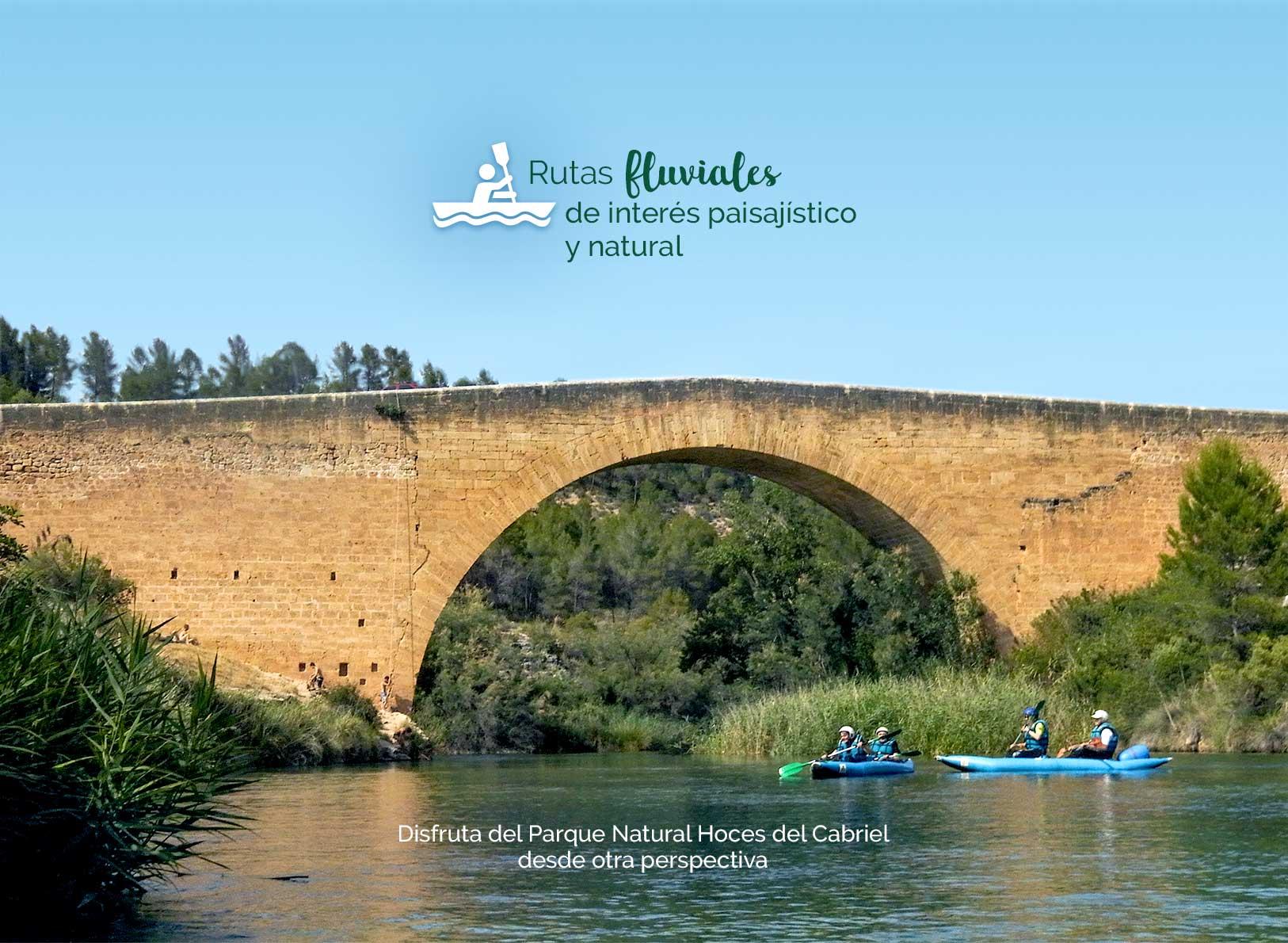 Rutas fluviales de interés paisajístico y natural.